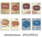 vintage set of different grunge ... | Shutterstock .eps vector #292149512