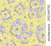 bohemian wild roses   vector... | Shutterstock .eps vector #292149752