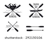 set of kayak emblems  badges... | Shutterstock .eps vector #292150106