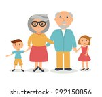 senior grandparents with their... | Shutterstock .eps vector #292150856