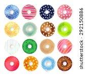 vector donuts set | Shutterstock .eps vector #292150886