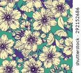 beautiful jasmine flowers draw... | Shutterstock .eps vector #292152686