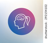 head with brain sign icon.... | Shutterstock .eps vector #292154102