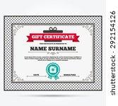 gift certificate. hipster photo ... | Shutterstock .eps vector #292154126