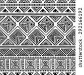 hand drawn vintage ethnic... | Shutterstock .eps vector #292166192