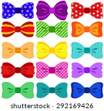 bright bow set  elements not... | Shutterstock .eps vector #292169426