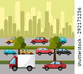 city transport design  vector... | Shutterstock .eps vector #292171256