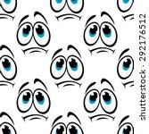 offended cartoon faces seamless ... | Shutterstock .eps vector #292176512