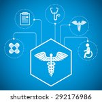 medical digital design  vector... | Shutterstock .eps vector #292176986