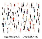 together we stand many... | Shutterstock . vector #292185425