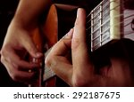 man playing acoustic guitar | Shutterstock . vector #292187675
