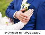 married couple holding their... | Shutterstock . vector #292188392