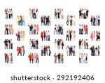 team over white people... | Shutterstock . vector #292192406