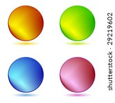 color ring buttons | Shutterstock .eps vector #29219602