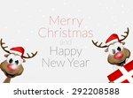 christmas reindeer | Shutterstock . vector #292208588