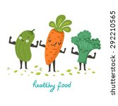 cute vegetable characters... | Shutterstock .eps vector #292210565
