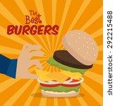 hamburger digital design ... | Shutterstock .eps vector #292215488