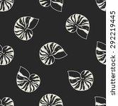 shell doodle seamless pattern...   Shutterstock . vector #292219445