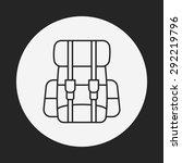 backpack line icon   Shutterstock .eps vector #292219796