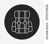 backpack line icon   Shutterstock .eps vector #292219826