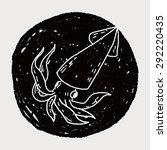 squid doodle | Shutterstock . vector #292220435