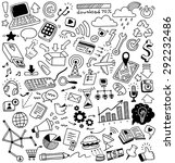 hand drawn web doodles set | Shutterstock .eps vector #292232486