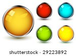 vector web buttons with shadows ... | Shutterstock .eps vector #29223892