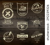 back to school badges logos and ... | Shutterstock .eps vector #292239326
