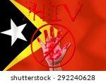 concept open hand stop  hiv ... | Shutterstock . vector #292240628