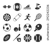 sports icon set | Shutterstock .eps vector #292242236