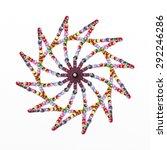 a design with multi color... | Shutterstock . vector #292246286