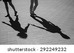 shadows of two young people ... | Shutterstock . vector #292249232