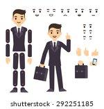 young businessman cartoon... | Shutterstock .eps vector #292251185