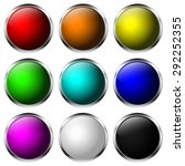 round buttons. shiny web icon... | Shutterstock .eps vector #292252355