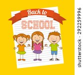 back to school design  vector... | Shutterstock .eps vector #292259996