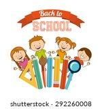 back to school design  vector... | Shutterstock .eps vector #292260008
