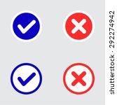 set of flat design check marks ...