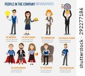type of people working in the... | Shutterstock .eps vector #292277186