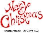 merry christmas card text | Shutterstock .eps vector #292295462
