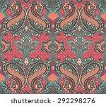 baroque paisley seamless... | Shutterstock .eps vector #292298276