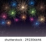 fireworks background | Shutterstock .eps vector #292306646