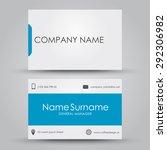 design business card for the... | Shutterstock .eps vector #292306982