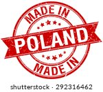made in poland red round... | Shutterstock .eps vector #292316462