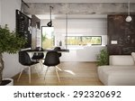modern and retro dining room... | Shutterstock . vector #292320692