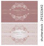 set of vintage invitation cards ... | Shutterstock .eps vector #292322642