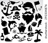Pirate Icon Set. Vector...