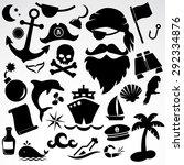 Pirate Icon Set. Vector...