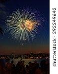 fireworks over the lake | Shutterstock . vector #292349642