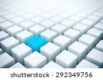 unique in the crowd   alone... | Shutterstock . vector #292349756