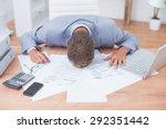 businessman being depressed by... | Shutterstock . vector #292351442